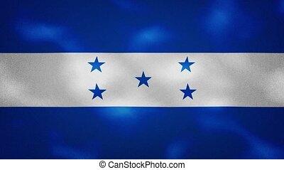 Honduras dense flag fabric wavers, perfect loop for background
