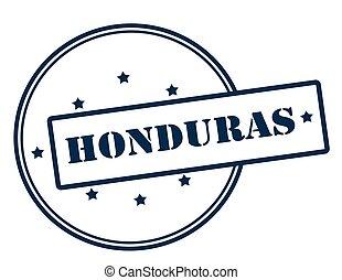 Honduras - Stamp with word Honduras inside, vector...