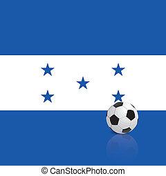 Honduras - Abstract Honduras flag with a soccer ball