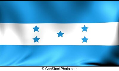 Honduras Flag. Background Seamless Looping Animation. 4K High Definition Video.