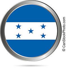 Honduras flag button.