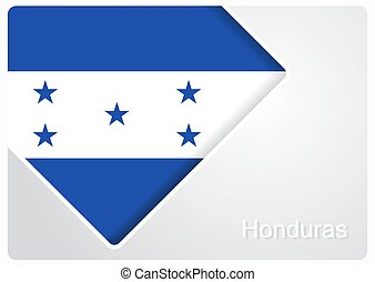 Honduras flag design background. Vector illustration. -...