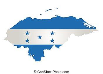 Honduras Flag - Flag of the Republic of Honduras overlaid on...