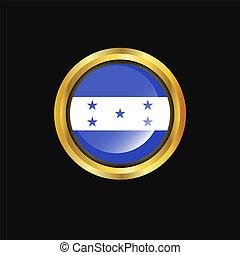 Honduras flag Golden button