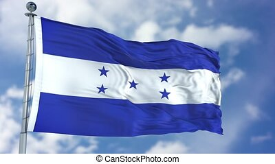 Honduras Flag in a Blue Sky. Use this clip loud and proud to...