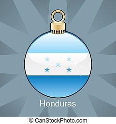 Honduras flag in christmas bulb - fully editable vector...