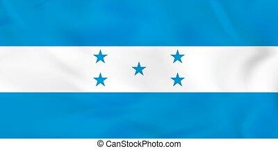 honduras, flag., nazionale, bandierina ondeggiamento, fondo, texture.