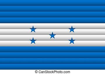 Honduras Flag. Vector Illustration.
