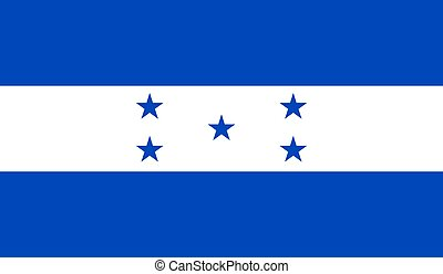 Honduras Flag  - Vector Illustration