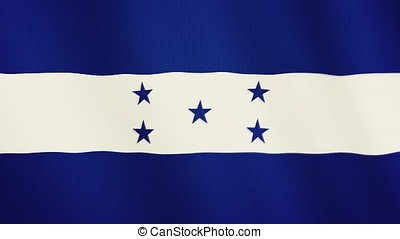 Honduras flag waving animation. Full Screen. Symbol of the...