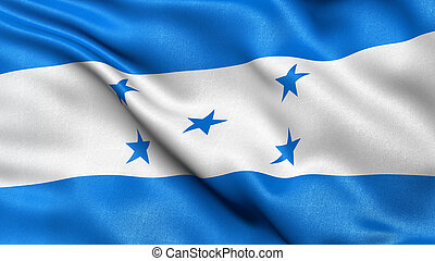 Honduras flag waving in the wind. - Beautiful 3D...