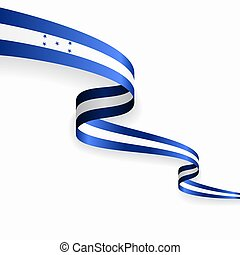 Honduras flag wavy abstract background. Vector illustration....
