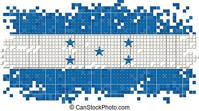 honduras, grunge, azulejo, flag., vector