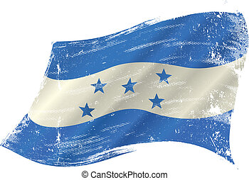 Honduras grunge flag - A grunge flag of honduras in the wind...
