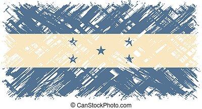 honduras, grunge, flag., vector, illustration.