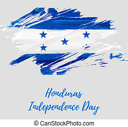 Honduras Independence day holiday. Abstract grunge brushed...