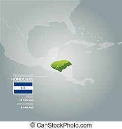 Honduras information map.