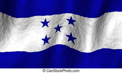 Honduras looping flag
