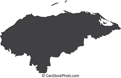 Honduras map in black on a white background. Vector...