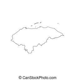 honduras, mapa, silueta