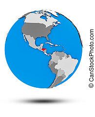 Honduras on political globe isolated