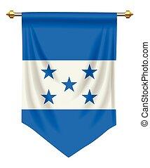 Honduras Pennant - Honduras flag or pennant isolated on...