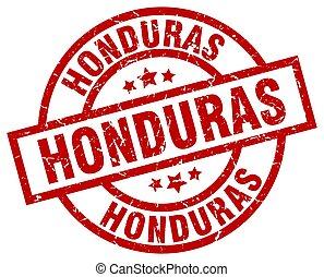Honduras red round grunge stamp