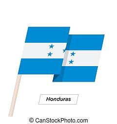 Honduras Ribbon Waving Flag Isolated on White. Vector...