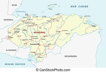 honduras road map