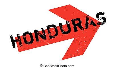 Honduras rubber stamp. Grunge design with dust scratches....