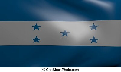 honduras strong wind flag