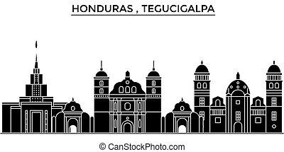 Honduras , Tegucigalpa architecture vector city skyline,...