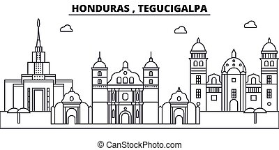 Honduras , Tegucigalpa architecture skyline buildings,...