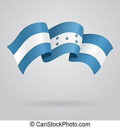 Honduras waving Flag. Vector illustration