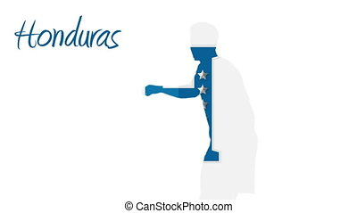 Honduras world cup 2014 animation with player in blue and...