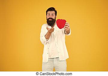 honest., バレンタイン, 広がり, toy., 赤い心臓, 祝いなさい, シンボル。, you., lover., 情報通, 共有, ロマンチック, 寛大である, 誠実, 人, around., concept., 愛, ある, heart., ロマンス語, 日, love.