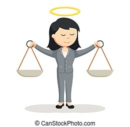 honest female lawyer illustration design