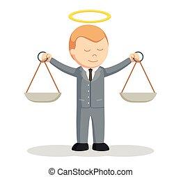 honesto, abogado, macho, diseño, ilustración