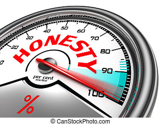 honesty per cent meter indicate hundred per cent, isolated...