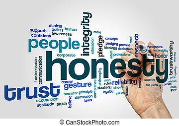 Honesty word cloud concept - Honesty word cloud