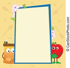 Honey and Apple Vertical Banner