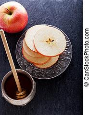 Honey and apples for Rosh Hashanah