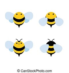 honey and Bee icon. honey vector.