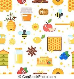 honey and beekeeping pattern