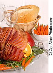 Honey and brown sugar glazed Easter ham - Brown sugar and...