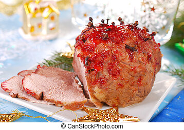 honey and plum glazed ham for christmas - honey and plum...