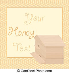 Honey background with beehive