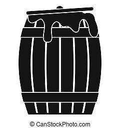 Honey barrel icon, simple style - Honey barrel icon. Simple...