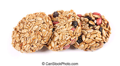 Honey bars with peanuts sunflower seeds