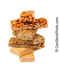 Honey bars with seeds and nuts